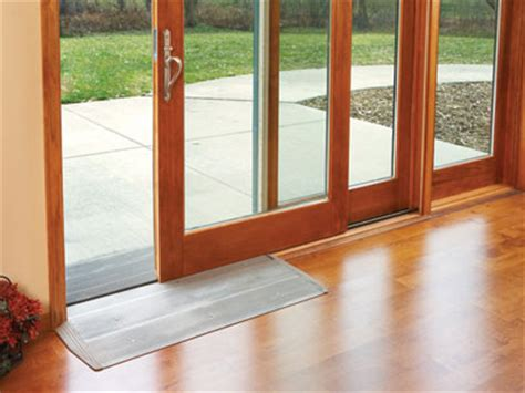 Low Threshold Patio Doors Universal Design Option Aluminum Sill R Kits For Ultra And Heritage Series Wood Garden Aire