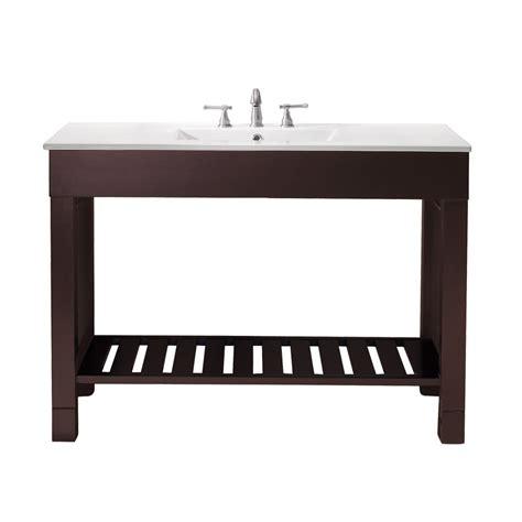 49 inch single sink bathroom vanity with walnut