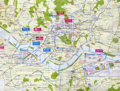 seoul map tourist attractions seoul city map seoul korea mappery