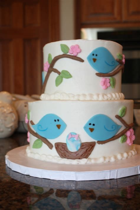 Bird Themed Baby Shower Cake by Bird Themed Baby Shower Cake Cakecentral