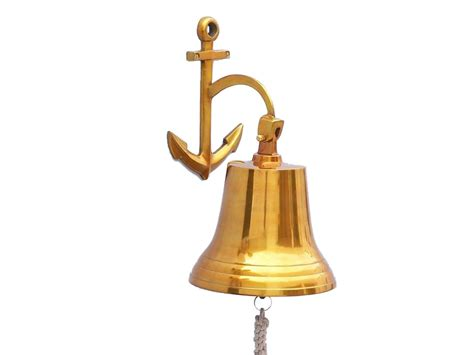 brass hanging anchor bell 16 quot