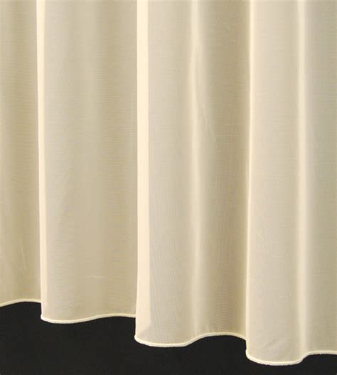 Sue Plain Lead Weighted Voile Net Curtain In White Or