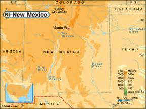 elevation map southwest us october 2011 map of mexico regional political geography