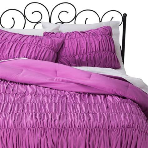 xhilaration bedding xhilaration ruched textured comforter set orchid target
