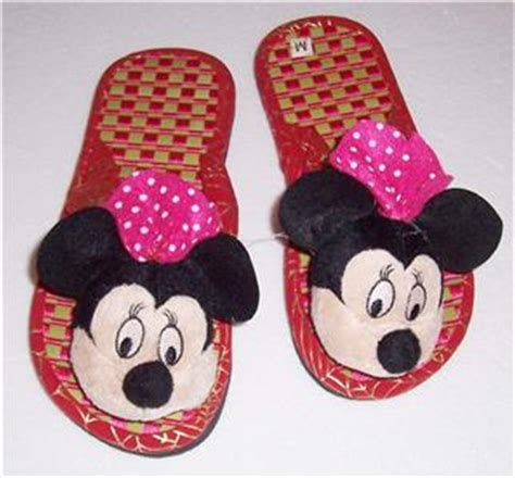 minnie mouse bedroom slippers new disney mickey minnie mouse red kid bedroom plush soft slippers ebay