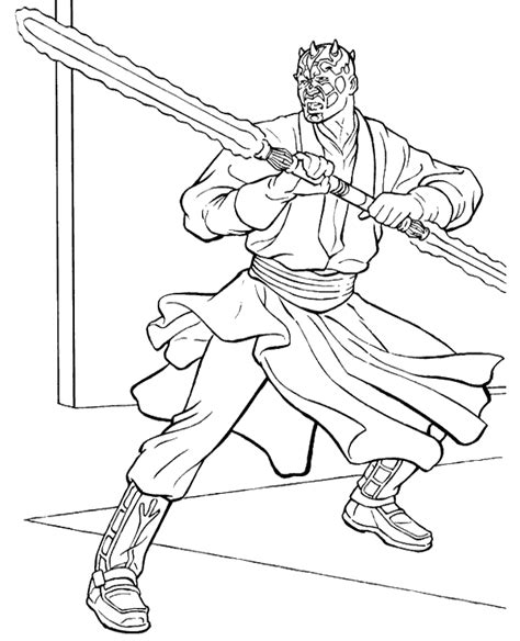 Darth Maul Coloring Pages Coloring Home