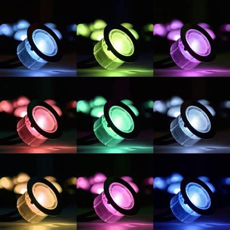 color led lights set of 10 rgb colour changing led deck lights decking