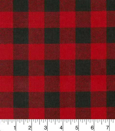 red buffalo check upholstery fabric snuggle flannel fabric red black buffalo check joann