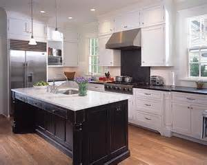 White Kitchen With Black Island Choosing The Right Finishing For Black And White Cabinets