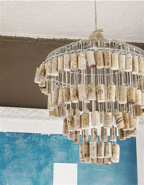 Handmade Chandeliers Ideas - 50 clever wine cork crafts you ll fall in with diy