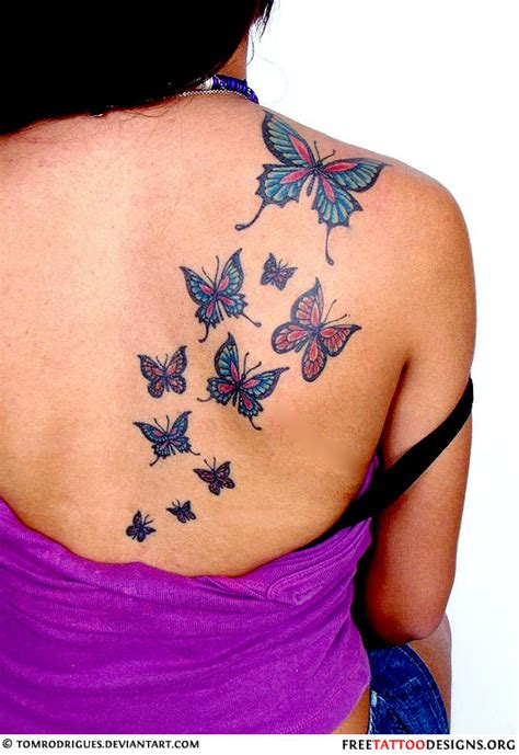 butterflies on a s back