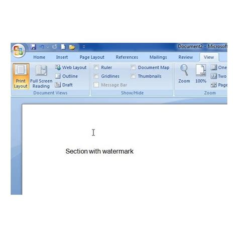 print layout view word 2007 how to add a watermark to microsoft word 2007 documents