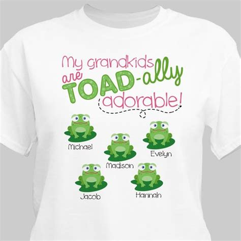 personalized my grandkids toadally adore me white t shirt