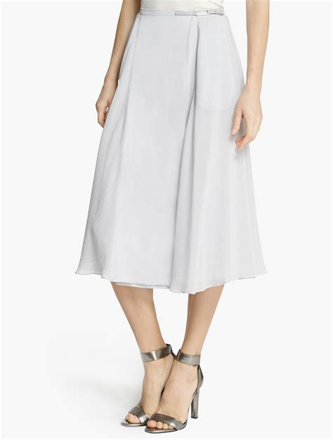 midi flowy skirt in white lyst