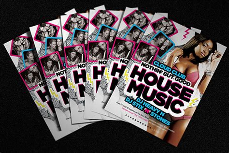 house music flyer free house music flyer template