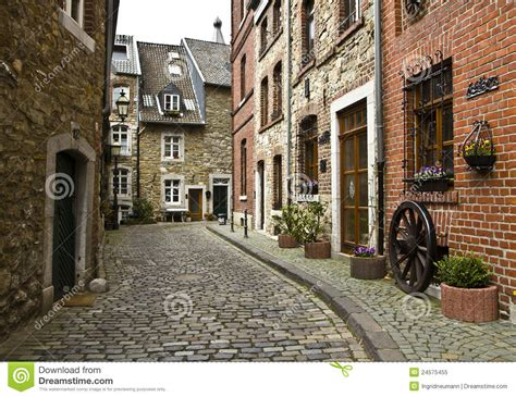 Small European House Plans beautiful old street in germany stock image image 24575455