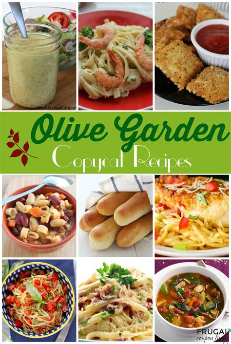 Home Garden Recipes make your favorite meals at home 25 copycat olive garden