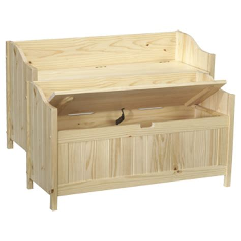 unfinished furniture bench 672w northwoods storage bench benches