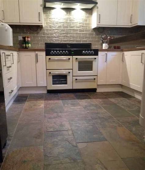 Slate Kitchen Floor Slate Flooring With White Cabinets Www Imgkid The Image Kid Has It