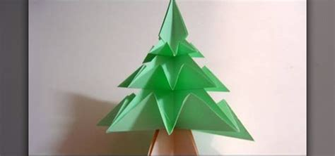 Easy Origami Decorations - how to fold a simple origami tree 171