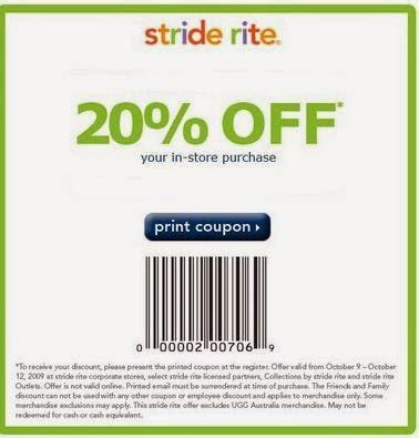 stride rite coupons