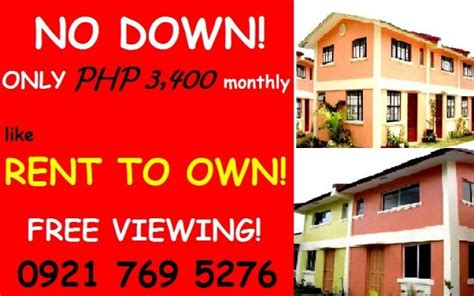 rent to own homes in imus cavite no payment only 3k