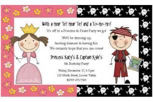 princess pirate invitations