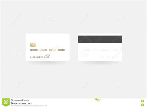 Credit Card Template Front And Back front and back of credit card vector