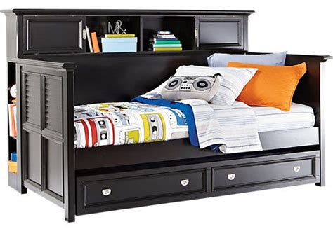 Shop For A Belmar Black 4 Pc Bookcase Daybed At Rooms To
