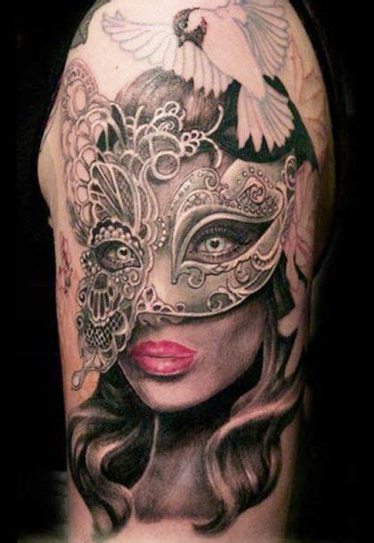 masquerade mask tattoo realism mask by westholm masque fleur