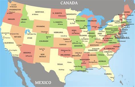 world map cities states abd eyalet başkentleri haritası