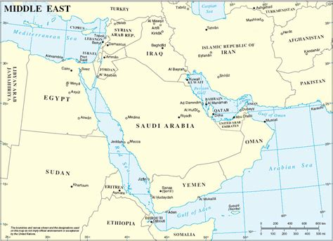 map of middle east countries middle east countries capitals map
