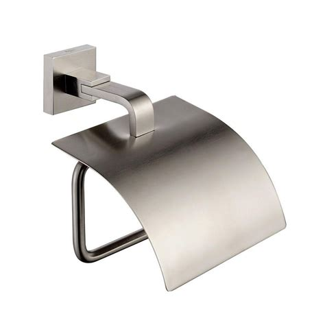 Bathroom Accessories Home Depot Kraus Aura Bathroom Accessories Tissue Holder With Cover Brushed Nickel The Home Depot Canada