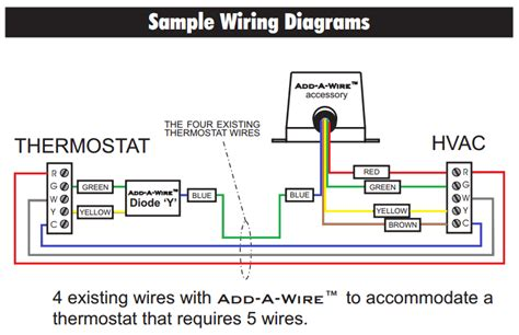 thermostat wiring diagram 5 wire thermostat get free