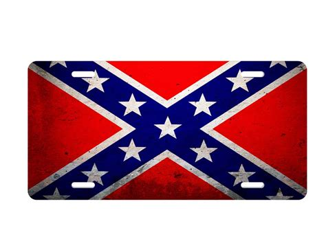 License Plate Background Check Confederate Quot Rebel Flag Quot License Plate Aluminum Auto Tag