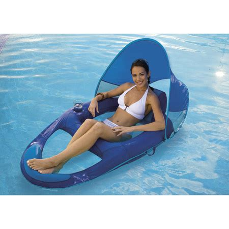 spring float recliner with canopy spring float recliner with canopy by swimways c