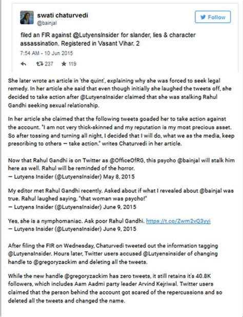 section 354d ipc swati chaturvedi the dehli journo accuses twitter user of