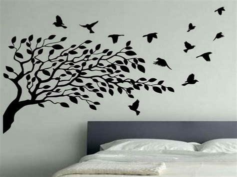 wall decor birds photo wall ideas bedroom flying birds wall decor white