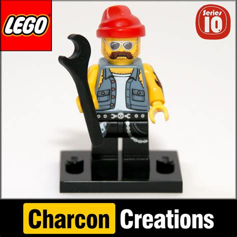 Lego Minifigures Series 10 Mechanic Misp lego minifigures series 10 motorcycle mechanic removed