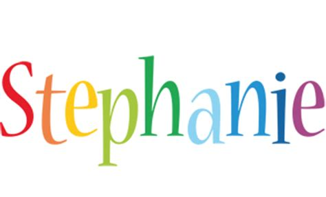 stephanie logo  logo generator birthday love