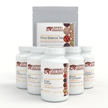Dherbs Detox Formula by 10 Day Flora Balance Cleanse F Or M 10 Day Flora Balance