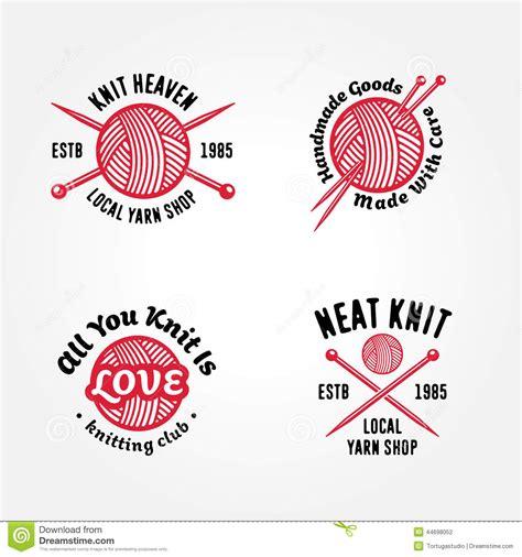 knitting logo set of knitting badges stock vector image 44698052