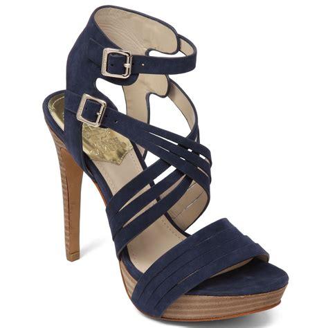 vince camuto jistil high heel platform sandals in blue