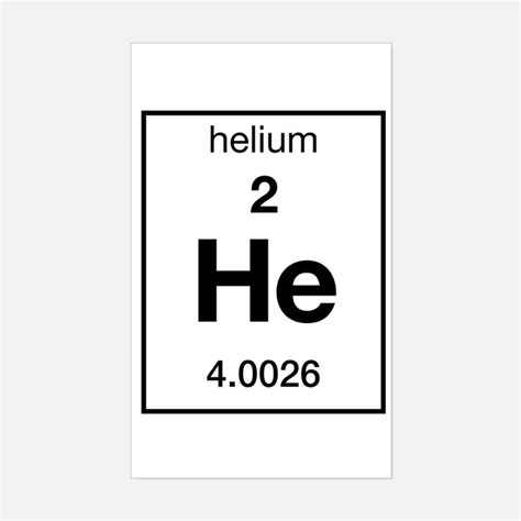 Square Wall Stickers helium element bumper stickers car stickers decals amp more