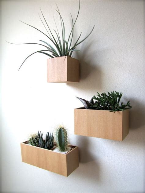 wall plant holders small wooden box diy woodworking projects plans