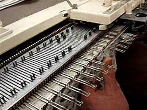 pattern machine you tube making waves technique on the knitting machine supplement