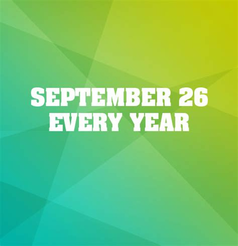 september 26 every year world contraception day