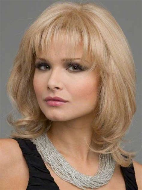 hairstyles with bangs over 40 20 medium lenght hairstyles hairstyles haircuts 2016