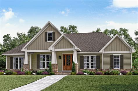 craftsman style house plan 3 beds 2 50 baths 2151 sq ft