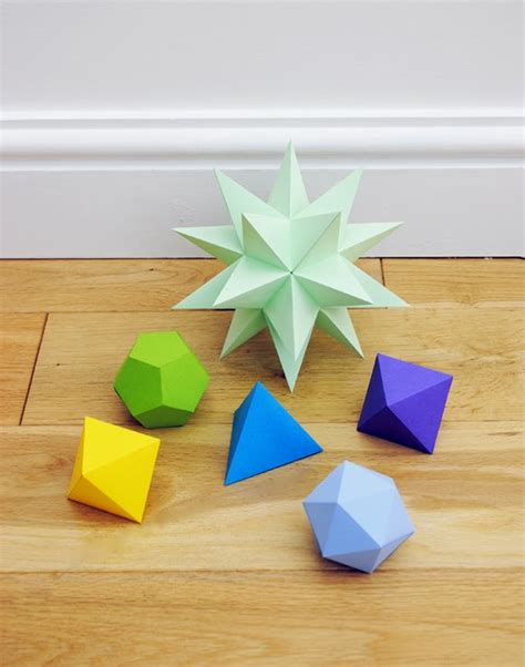 Dodecahedron Origami Free - leni g geometric paper decoration free